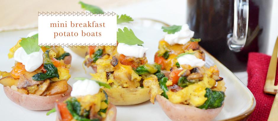 test kitchen :: mini breakfast potato boats