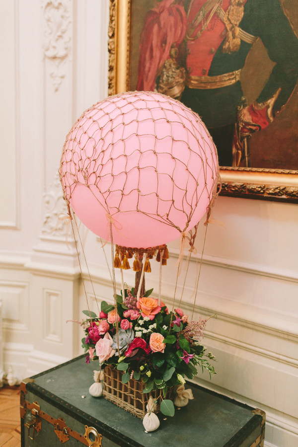Hot Air Balloon Floral display