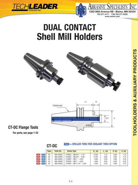 Techleader Shell Mill Holder Promo