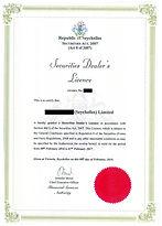 Seychelles Securities Dealers License