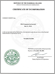 Certificate of Incorporation IFLS Corporate Services Ltd