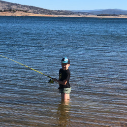Fishing for all ages at lake Eucumbene.J