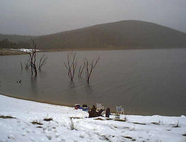 Snow fishing at Providence Portal in 200