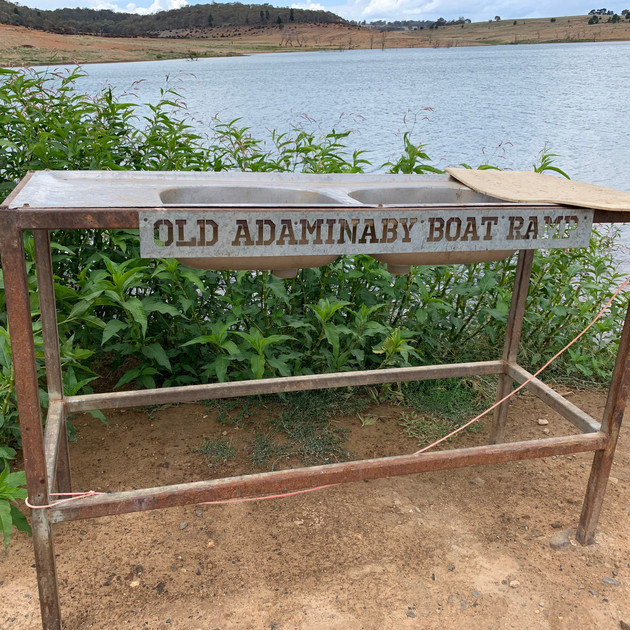 Trout gutting table - Old Adaminaby.JPG
