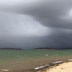 About to cop it - Big storm hits Lake Eu