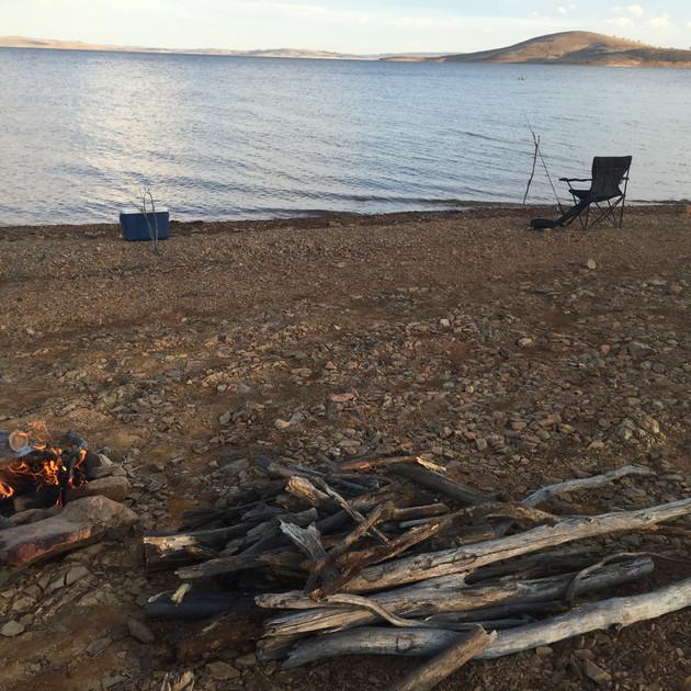 Set for an evening of fishing - Lake Euc