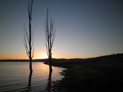 Pretty sunset at Lake Eucumbene