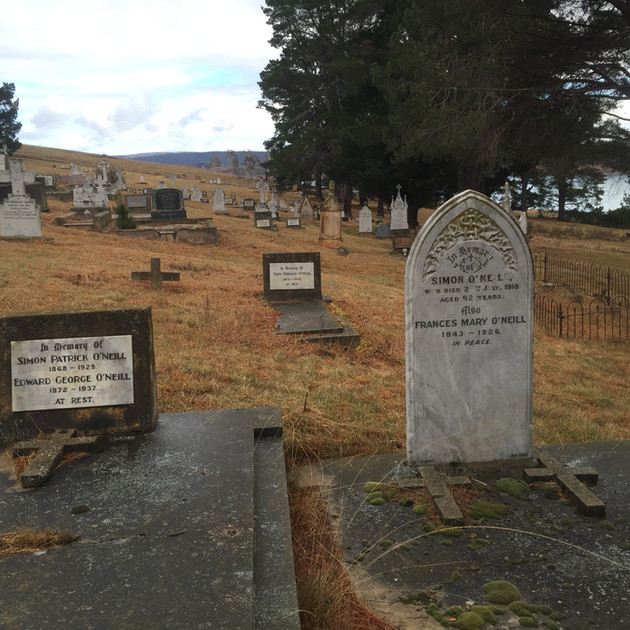 Graves at the Old Adaminaby Cemetery - A