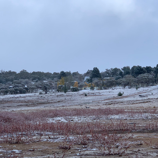 Old Adaminaby in snow - Lake Eucumbene -