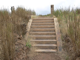 Steps of St. Marys Catholic Church - Old Adaminaby