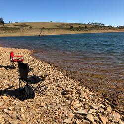 Fishing near Cemetary Point - Lake Eucum