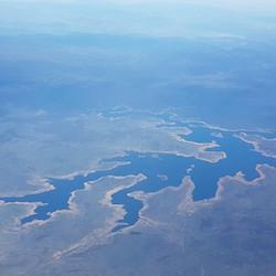 Jason Ray - Lake Eucumbene from the air.