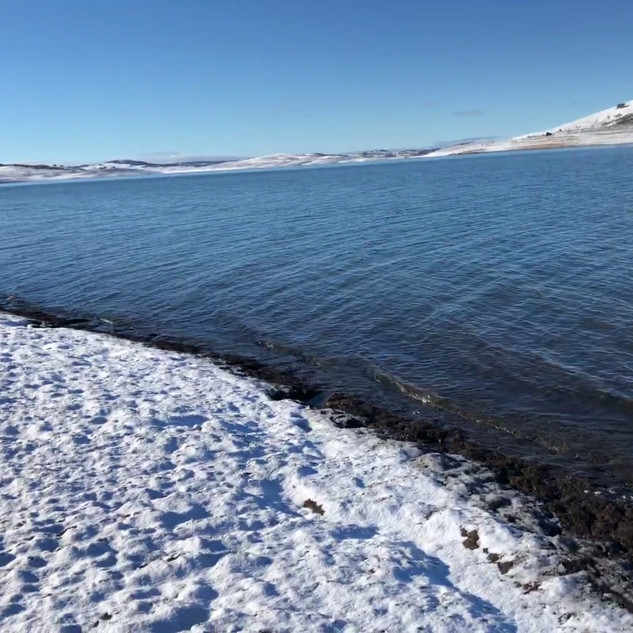 Video - fishing in the snow on Trout Isl