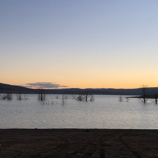 A georgeous sunset over Lake Eucumbene.J