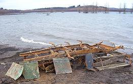 Farm machinary left behind at Lake Eucum