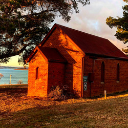 Sunrise at the church at Old Adaminaby