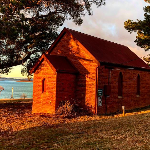 Sunrise at the church at Old Adaminaby.J