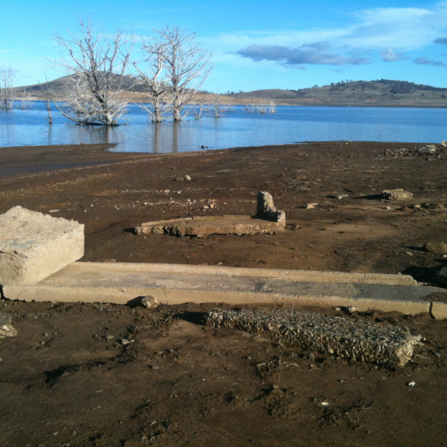 Ruins at Old Adaminaby - Lake Eucumbene.