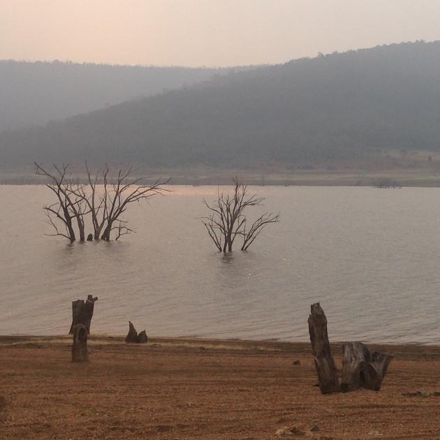 A smokey day at Anglers Reach - Lake Euc