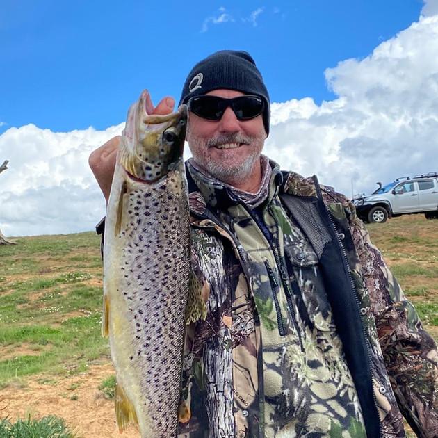 Peter Seary - brown trout - Braemar Bay.