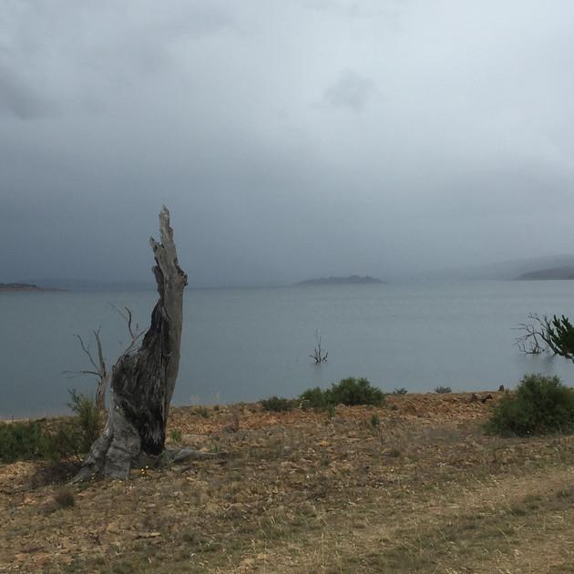 Rain heading to Yens Bay - Lake Eucumben