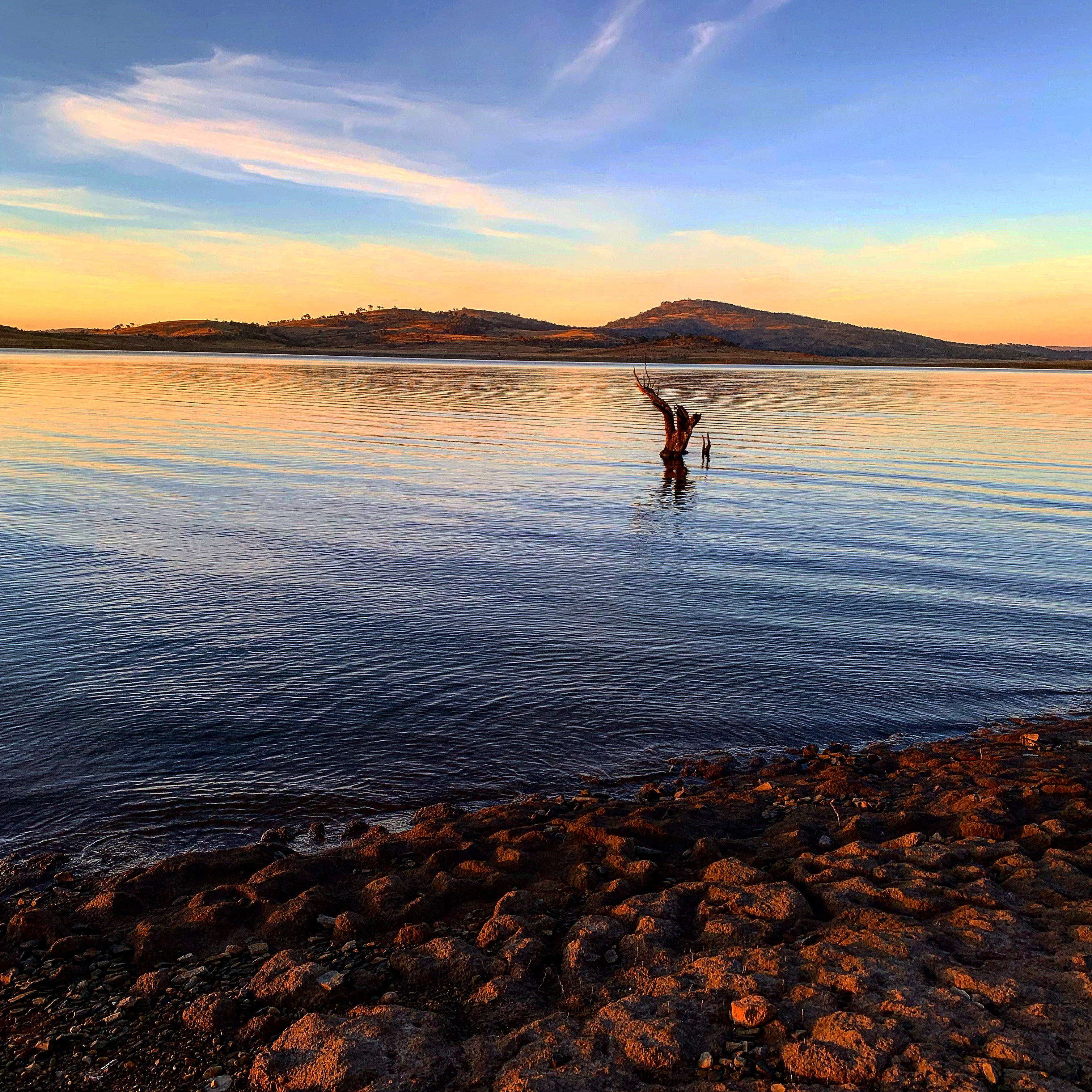 Sunrise at Trout Island - Lake Eucumbene