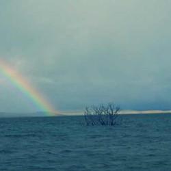 Rainbow at lake Eucumbene.JPG