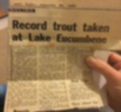 Article - Largest trout caught in Lake Eucumbene