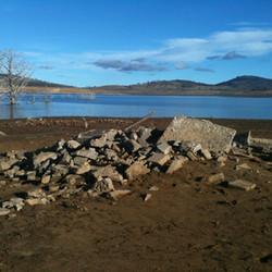 Pile of ruins at Old Adaminaby - Lake Eu