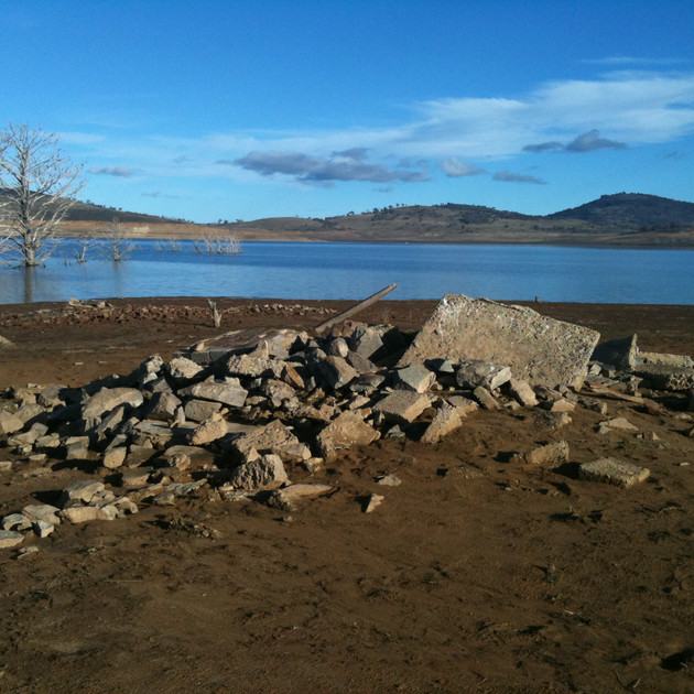 Pile of ruins at Old Adaminaby - Lake Eu