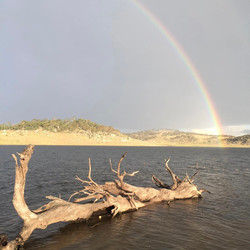 Allan Cunningham - Rainbow at Lake Eucum
