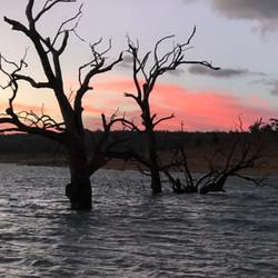 Sunset over Yens Bay - Lake Eucumbene -