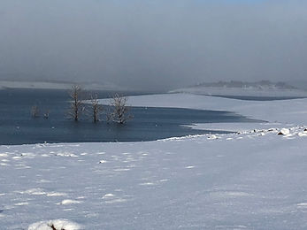 Winter snow at Old Adaminaby - Lake Eucu