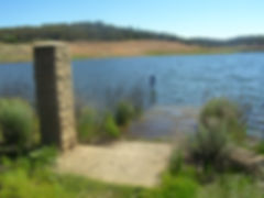 Catholic Church steps at Lake Eucumbene-