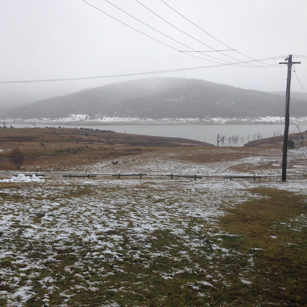 Snow at Anglers Reach - Lake Eucumbene -