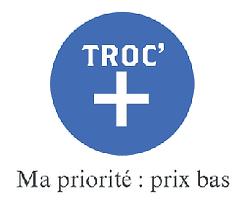 BIENVENUE ...    Ma priorité : votre satisfaction. Voici une nouvelle page dénommé TROC'+, des articles à bas prix pour vous satisfaire pour toutes bourses. En espérant que cette rubrique vous plaise.