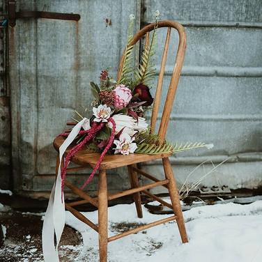 Warm Pink Fanned Bouquet