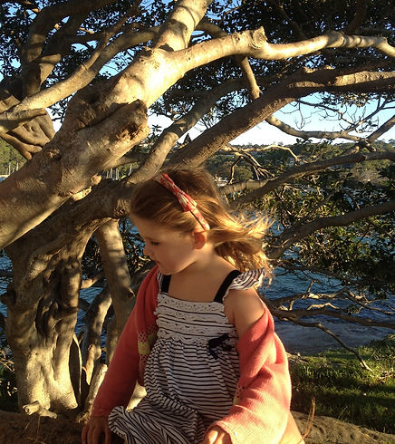 girl in tree