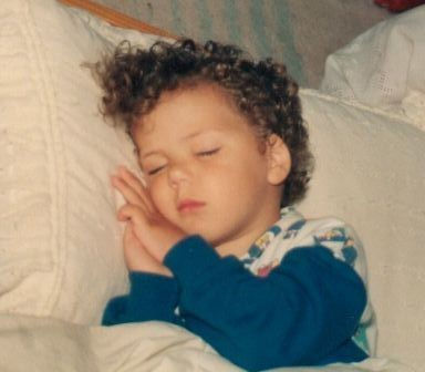 sleeping little boy
