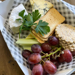 WEST COUNTRY CHEESES WITH FRUIT & RUSTIC OAT CAKES.