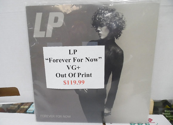 """LP """"forever for now"""" vg+. out of print."""