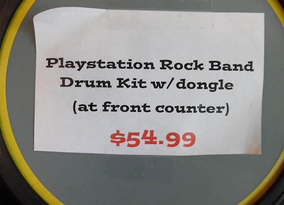 Playstation Rock Band Drum Kit W/Dongle