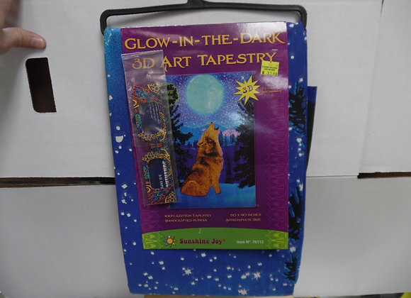 Glow In The Dark 3D Art Tapestry By Sunshine Fun(3D glasses).Great For Picnics,