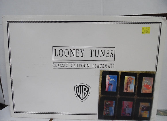 new in box.  looney tunes classic cartoon placemats