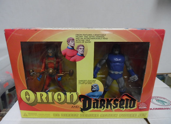 new in box.orion and darkseid figures