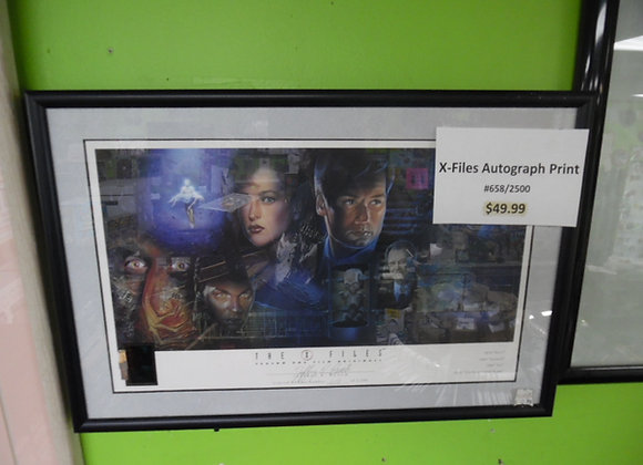 x-files autographed print