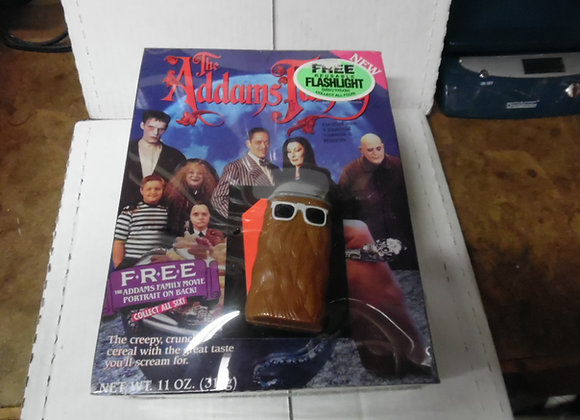 ADDAMS FAMILY CEREAL.Contains All 4 Flashlights