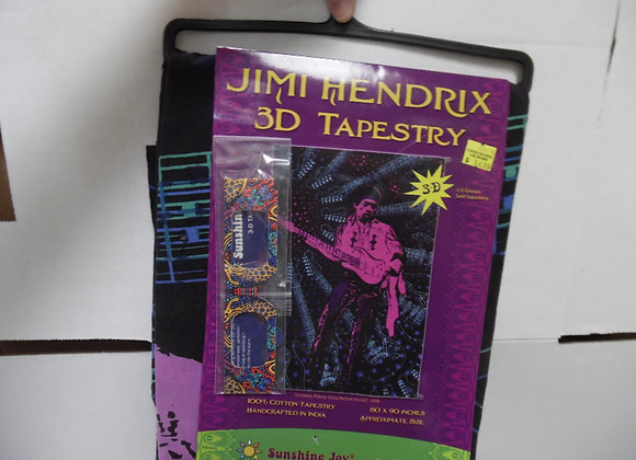 JIMI HENDRIX 3D Tapestry By Sunshine Fun.(Glasses Included).Great For Picnics