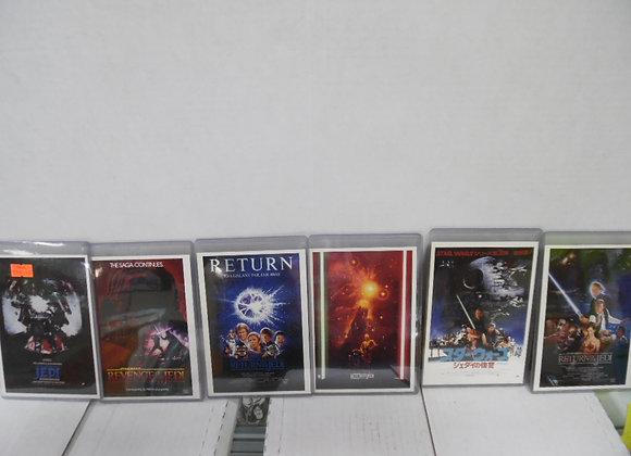 STAR WARS  Return Of The Jedi Mini Poster Set (6) mini posters TOPPS Widevision