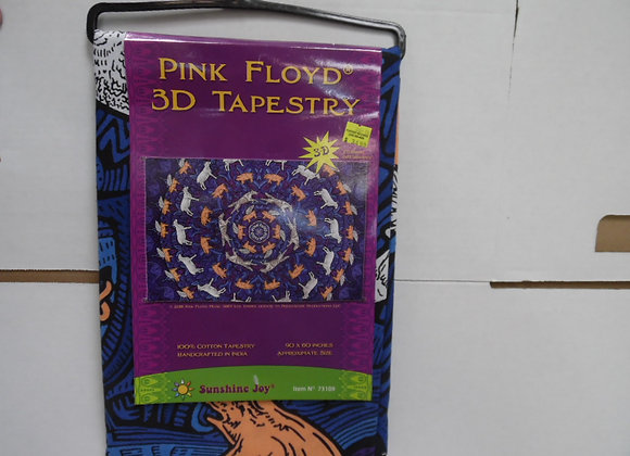 PINK FLOYD 3D Tapestry By Sunshine Joy. Great For Picnics,Beach Seats,Home Decor